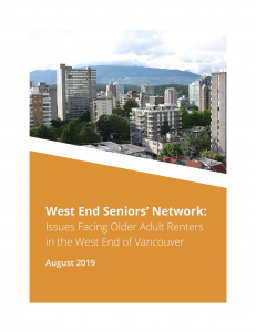 Issues Facing Older Adult Renters in the West End of Vancouver