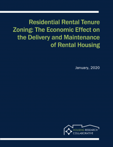 Residential Rental Tenure Zoning: The Economic Effect on the Delivery and Maintenance of Rental Housing